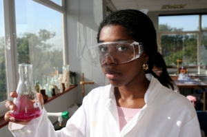 Girl Chemist Experimenting